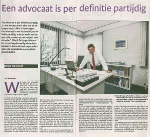 Artikel Mijn bedrijf in PZC d.d. 25 oktober 2014